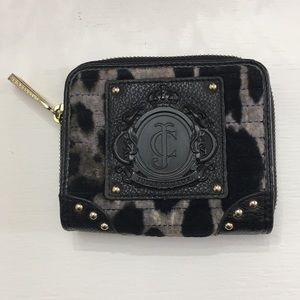 JUICY COUTURE Leopard print gray/black wallet